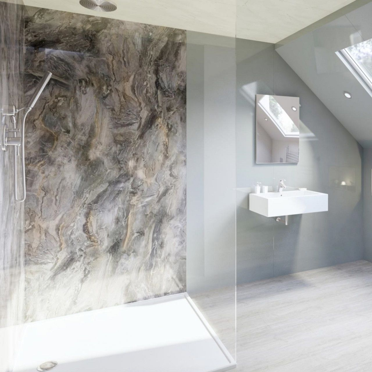 Looking For An Alternative To Bathroom Tiles Why Not Opt For Waterproof Wall Panels These Cl Bathroom Wall Panels Bathroom Shower Walls Bathroom Design Decor