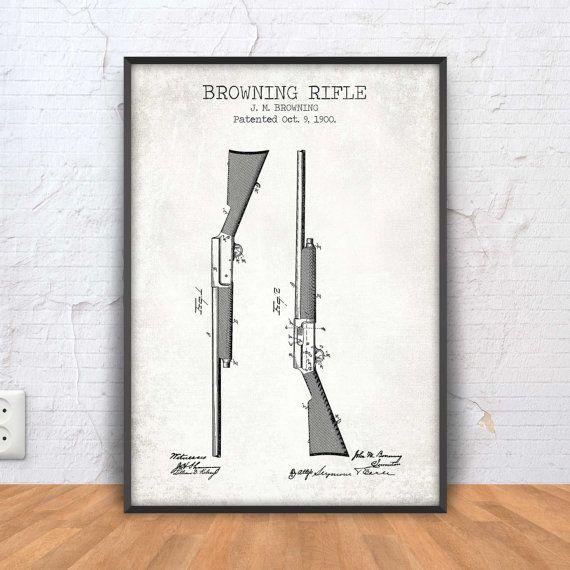 Browning rifle print rifle patent print rifle poster rifle leading baseball training and softball training facility in new jersey inthezonenj malvernweather Image collections