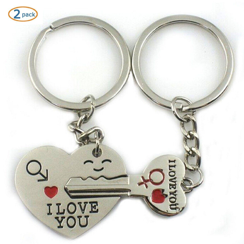 World Pride Key to My Heart Cute Couple Keychain Love Keychain Key ...