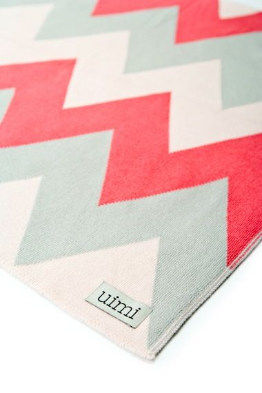 chevron baby blanket. great for baby girl or boy