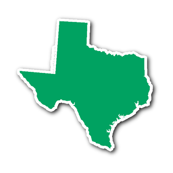 Texas State Shape Sticker Outline White State Shapes Texas Stickers Texas State