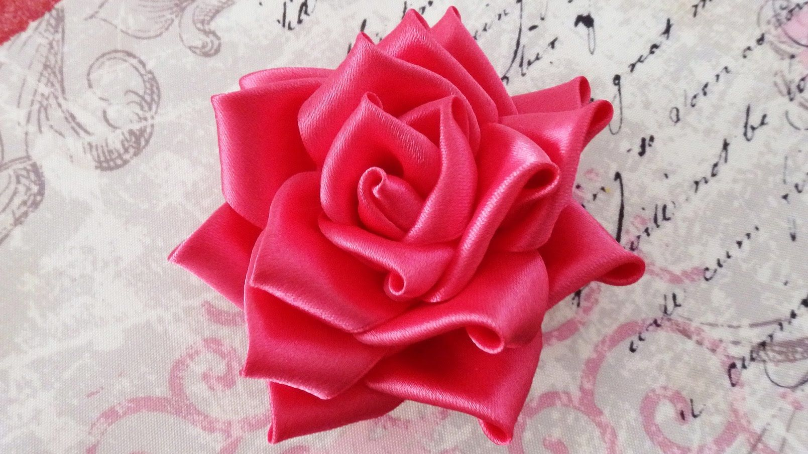 Diy Satin Ribbon Rose Satin Ribbon Flower Tutorialhow Tokanzashi