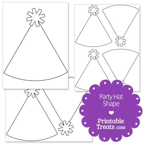 The main body of the party hat is blank so you can decorate it any - party hat template