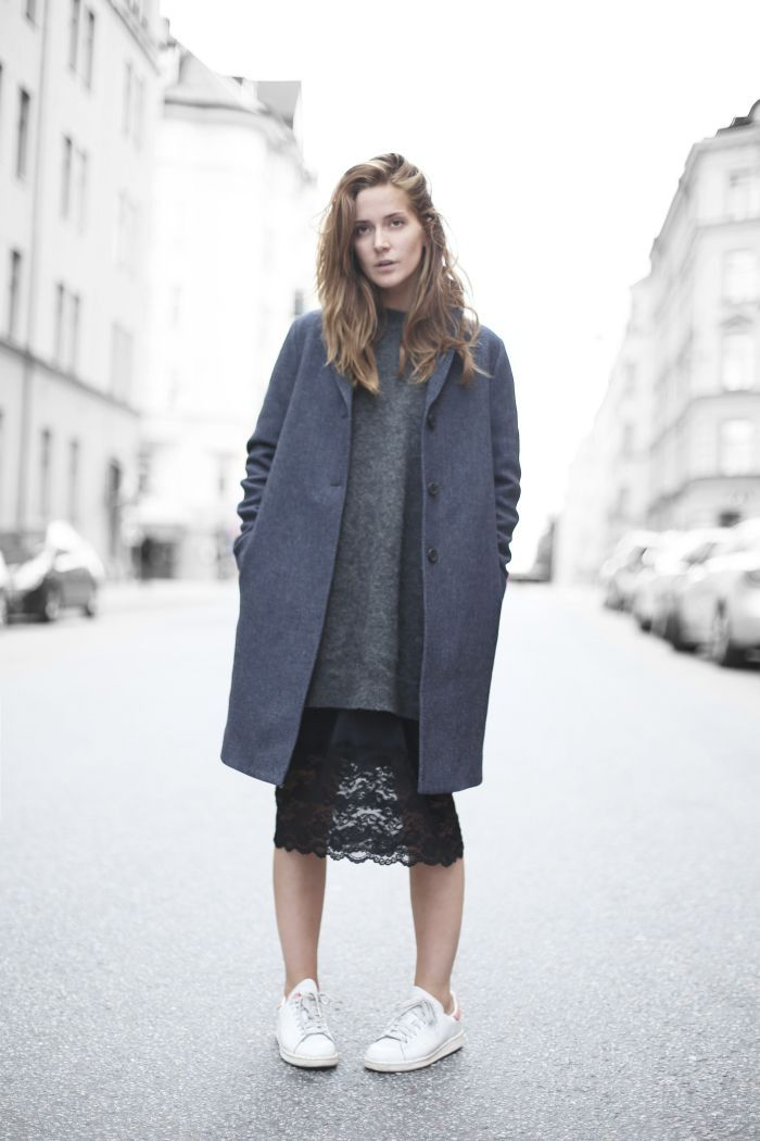 sweaters-and-skirts-black-lace-pencil-skirt-grey-long-oversized ...