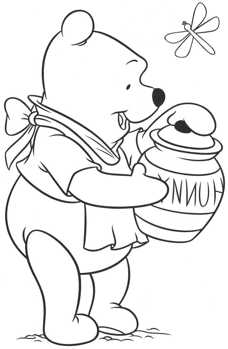 coloriage tete de winnie l ourson  Coloriage winnie, Coloriage