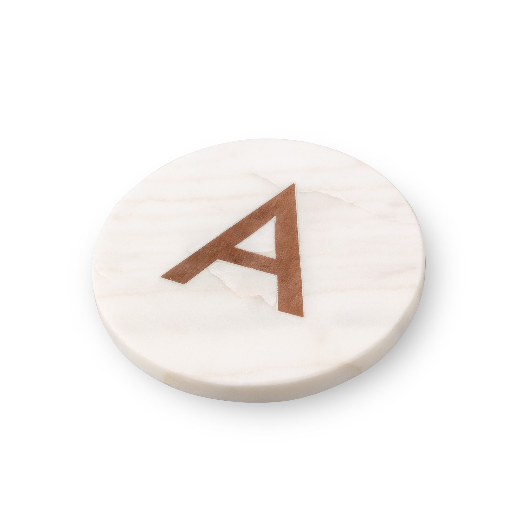 Buy The Marble Amp Copper Alphabet Coaster At Oliver Bonas