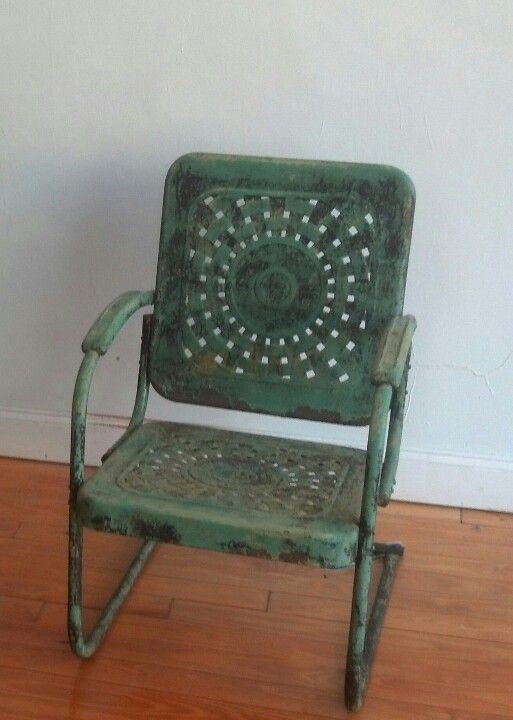 Pair of these wonderful vintage metal chairs added to the ...