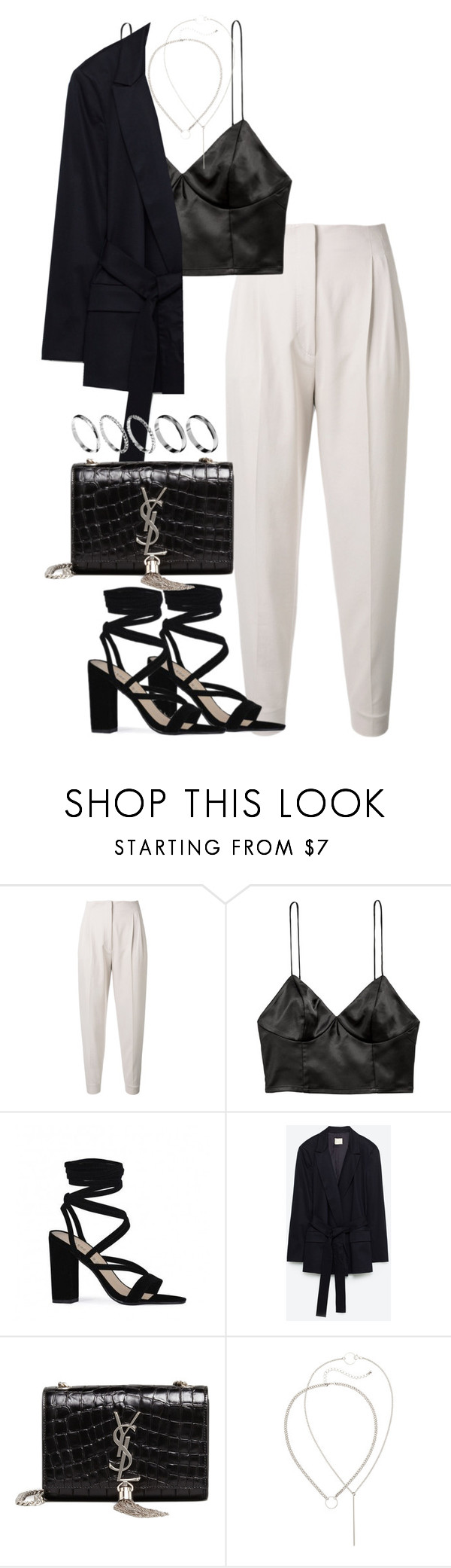 """""""Untitled #3757"""" by theeuropeancloset ❤ liked on Polyvore featuring MaxMara, H&M, Public Desire, Yves Saint Laurent and ASOS"""