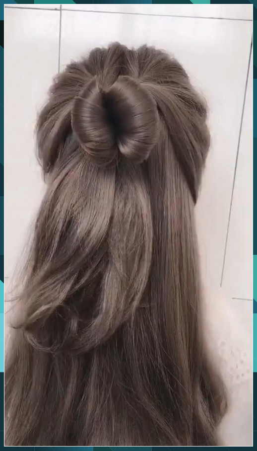 How To Make A Princess Hair Style Hair Peinados Cabello Corto Princess Style In 2020 Hair Styles Front Hair Styles Hair Highlights