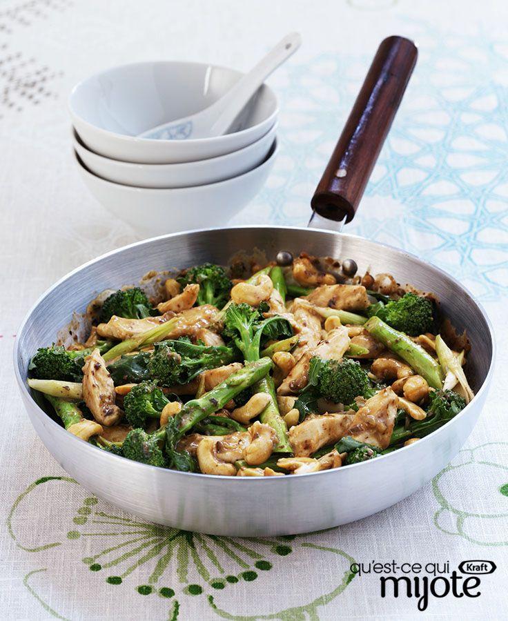 Sauté instantané au poulet et au brocoli # recette