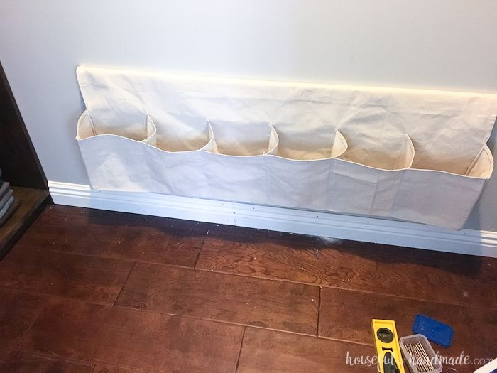 Drop Cloth Hanging Shoe Storage Around The House