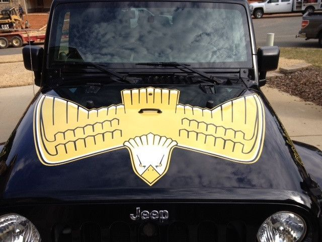 Jeep Wrangler Golden Eagle Full Color Hood Decal Kit Jeep