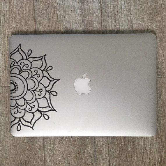 Half Mandala Mandala Decal Mandala Sticker Mandala Laptop