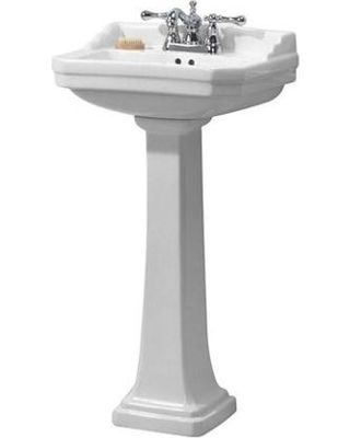 19 X 15 Bathroom Series 1920 Pedestal Combo Bathroom Sink In White FL 1920