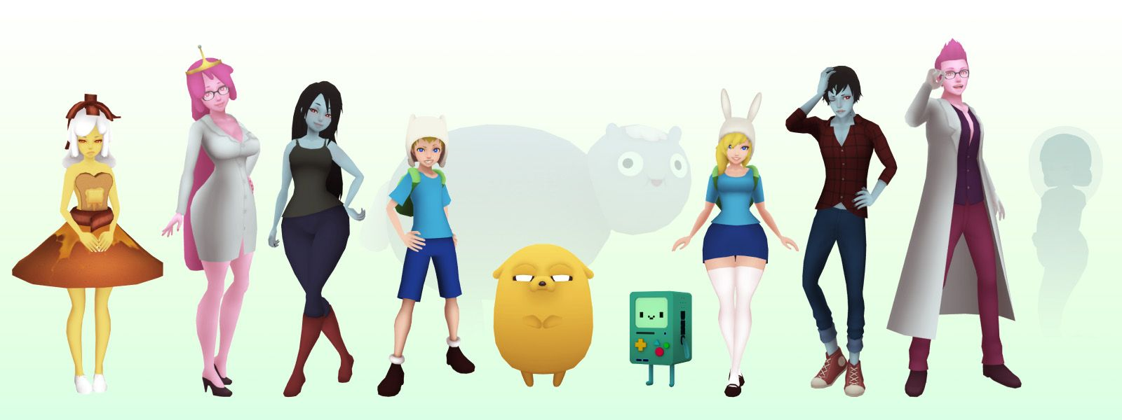 3d adventure time characters adventure time characters
