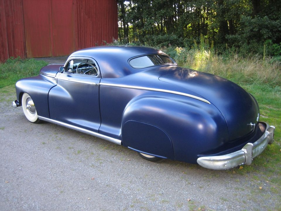 Chopped 1948 Dodge D24 Busines Coupe Cousin To The 46 48 Plymouth P15 Custom Cars Classic Cars Trucks Dodge