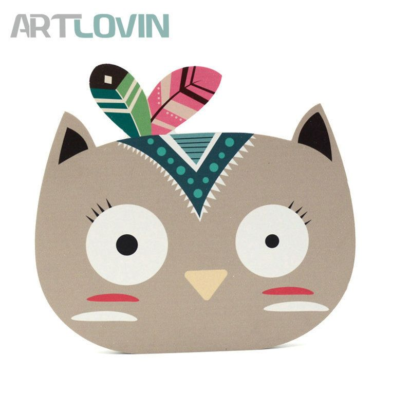 Find More Plaques Signs Information About Fashion Nordic Ins Wooden Cartoon Animal Wood Plate Baby Room Hanging Wall D Cute Art Baby Clip Art Cartoon Animals