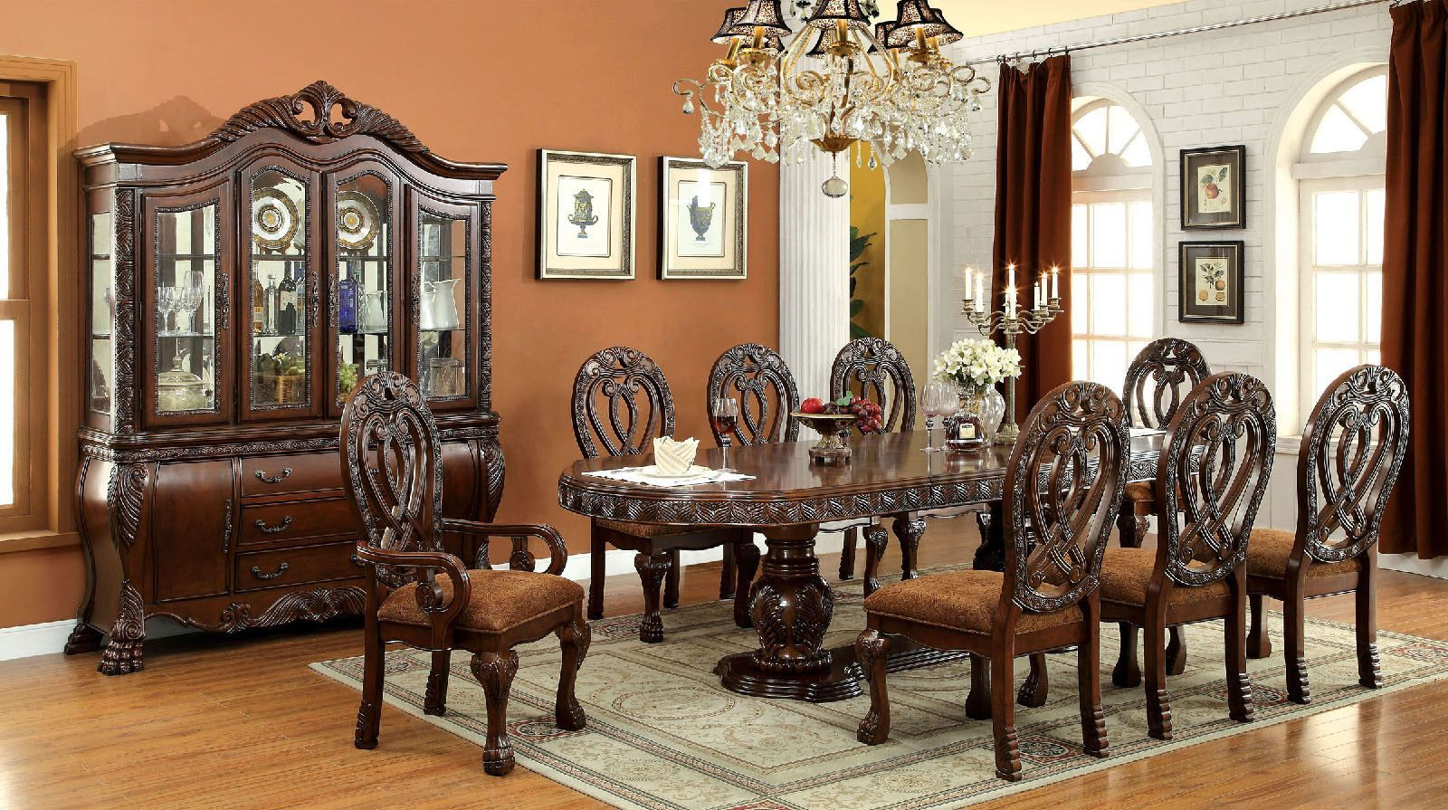 Wyndmere 9 Pcs Dining Table & Chairs Set Cm3186T  Products New 9 Pcs Dining Room Set Design Inspiration