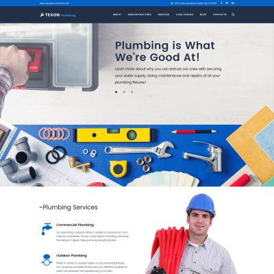 Texon Plumbing - Maintenance Services & Plumbing WordPress Theme ...