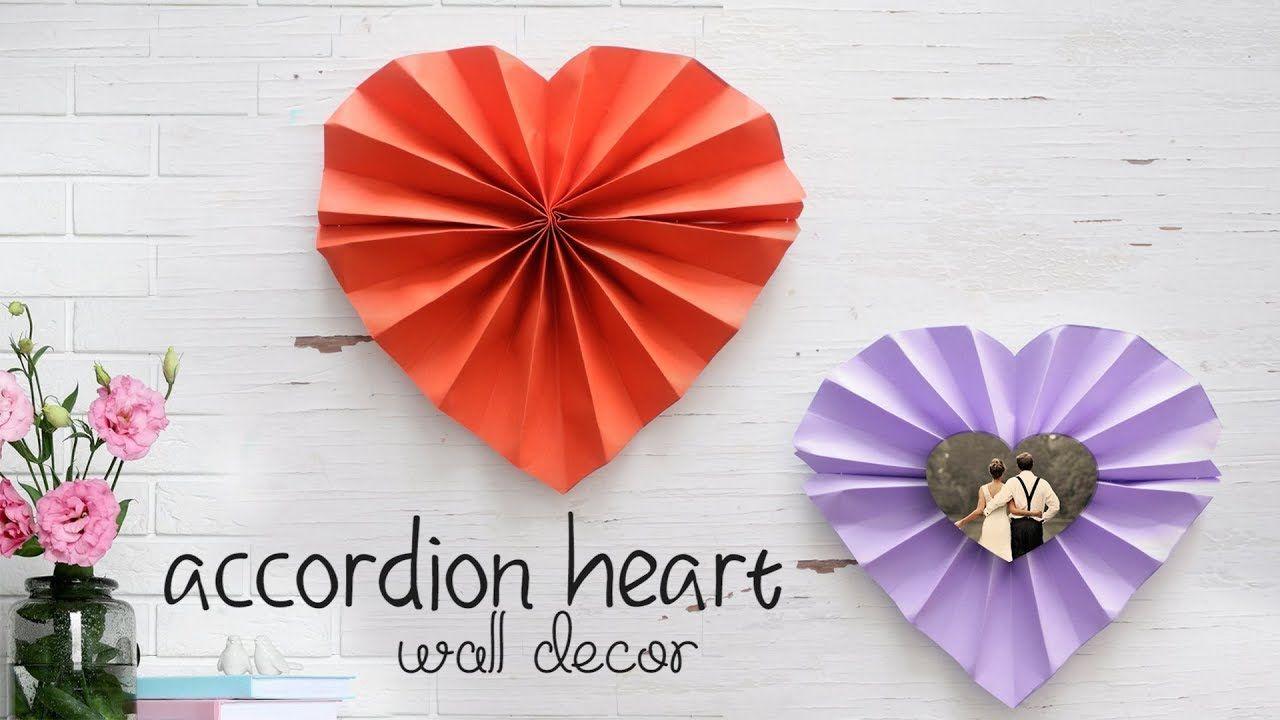 Heart Wall Decor! | Origami y Tarjetas | Pinterest ...