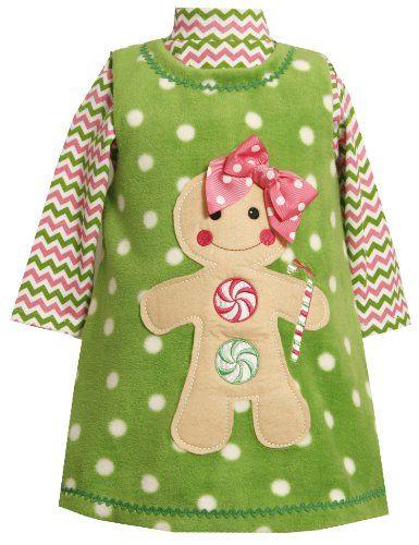 Bonnie Jean Girls Lovebird Applique Fleece Playwear Set