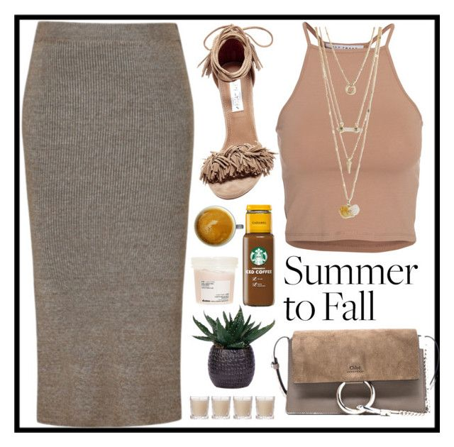 """""""BROWN XXX"""" by perfectgirll ❤ liked on Polyvore featuring Steve Madden, Chloé, Ally Fashion, NLY Trend, Shabby Chic, Lux-Art Silks and Davines"""