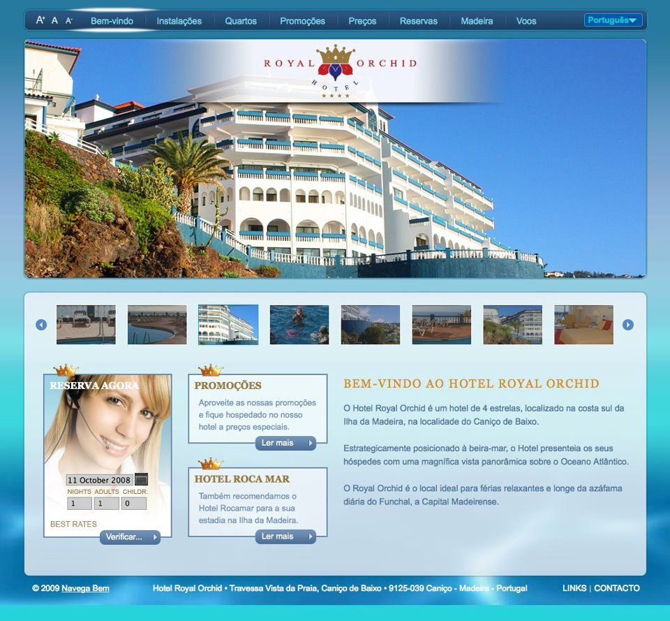 Hotel Royal Orchid Another project developed By Navega Bem Web Design- Madeira Island Portugal  http://www.hotelroyalorchid.com/