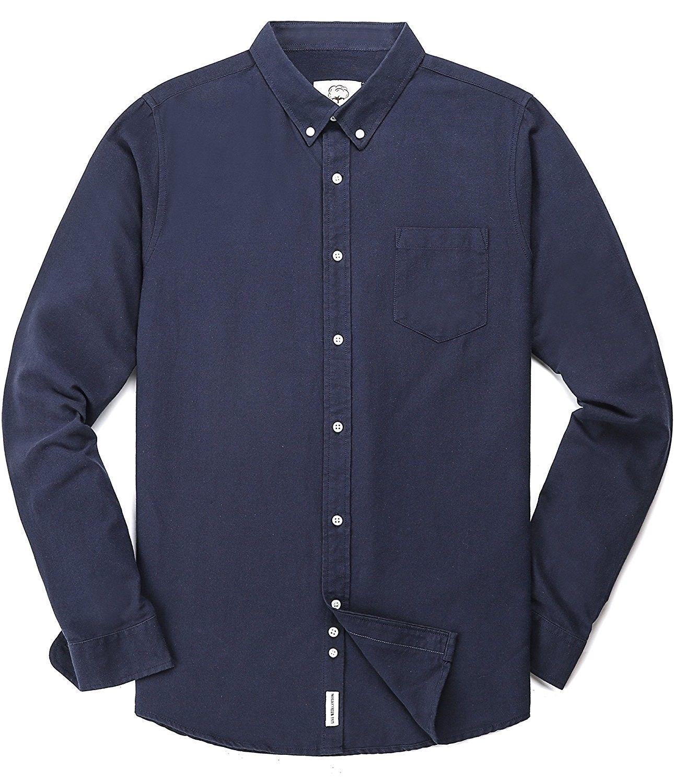 Men S Oxford Long Sleeve Button Down Dress Shirt With Pocket Navy Blue C51899ot34u Shirts Mens Clothing Sale Mens Outfits [ 1500 x 1290 Pixel ]