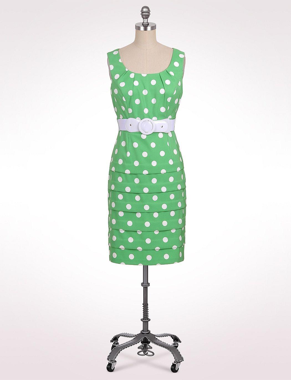 Misses Dresses Belted Shutter Tier Polkadot Dress Dressbarn 40 1920s Fashion Dresses Casual Dresses For Women Dresses [ 1370 x 1050 Pixel ]