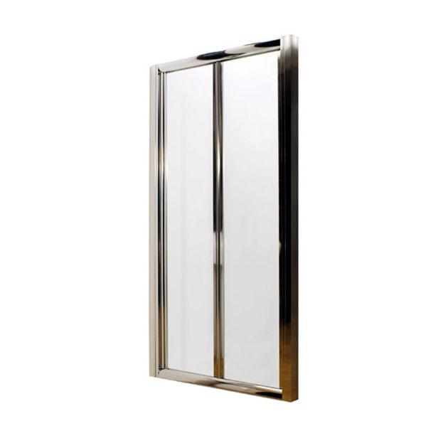 Premier Pacific Bi Fold Shower Door 1200mm Wide 4mm Glass Aqbd12 Bifold Shower Door Shower Doors Shower Enclosure