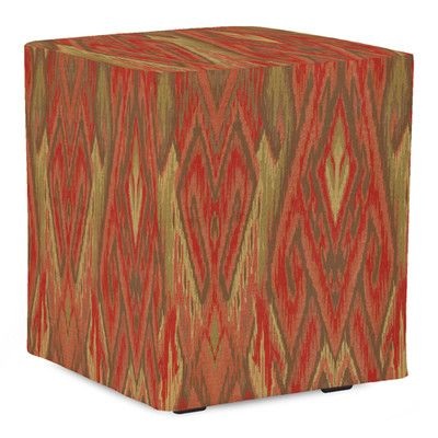 Universal Ikat Cube Ottoman Color: Earth - http://delanico.com/ottomans/universal-ikat-cube-ottoman-color-earth-525002638/