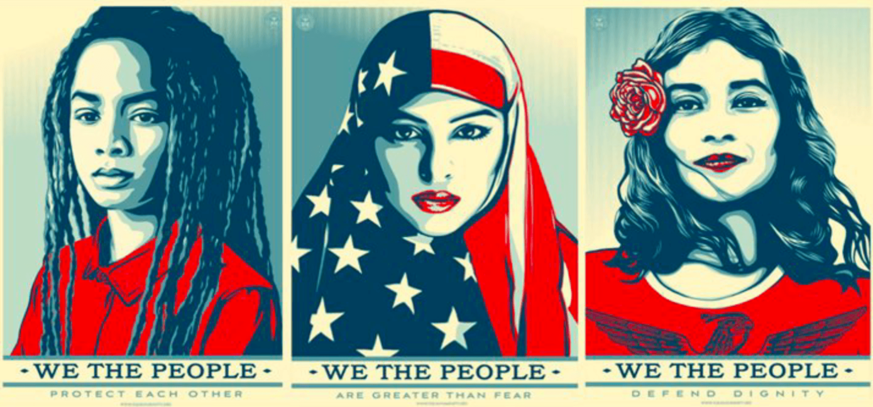 SHEPARD FAIREY OBEY GIANT WE THE PEOPLE GREATER THAN FEAR PRINT POSTER TRUMP