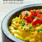 Corn Guacamole with Tomatoes and Lime - Wishful Chef