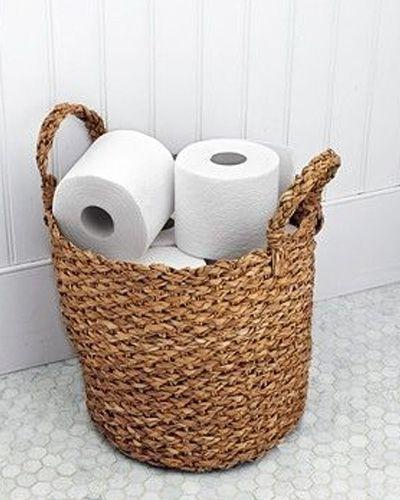 Quick And Pretty Toilet Decor Bathroom Organisation
