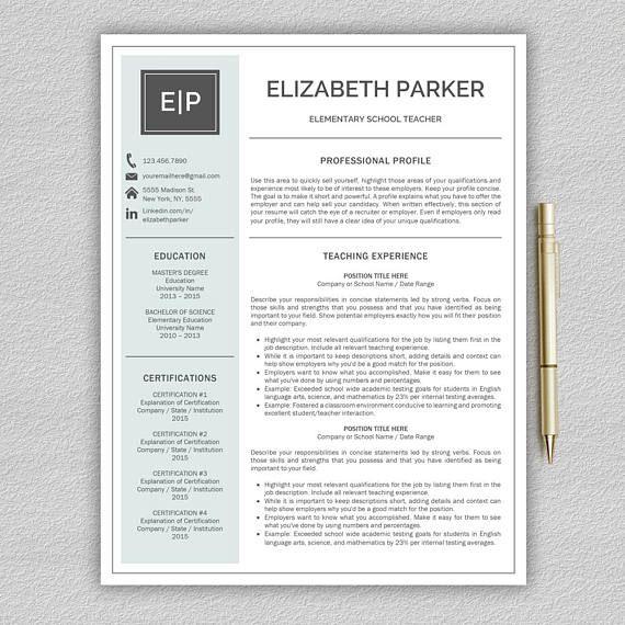 teacher resume template for word    resume teacher