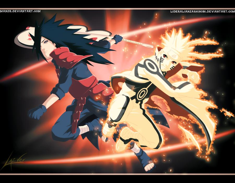 epic battle madara uchiha vs naruto uzumaki by lideralianzashinobi