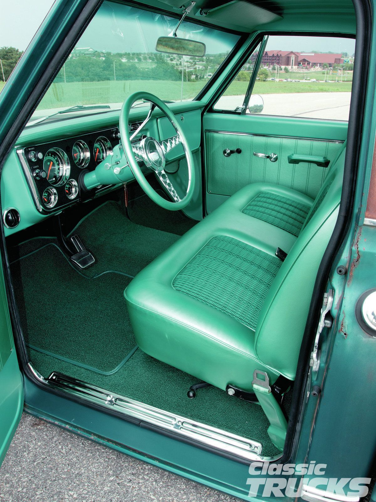 1970 Gmc Teal 67 72 Chevy Truck Interior Chevy Trucks Custom Chevy Trucks 72 Chevy Truck