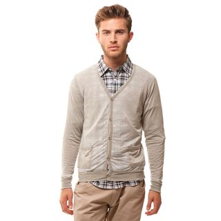 191 Unlimited Men's Slim Fit Grey Burnout Cardigan | Wardrobe ...