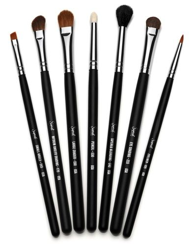 These are my new babies: my Sigma Eye Brush Set.  I highly recommend these brushes; they're not as pricey as Mac brushes, but they're high-quality.  Price: $52.00 for 7 brushes, which is 7.43 a brush...Not bad!
