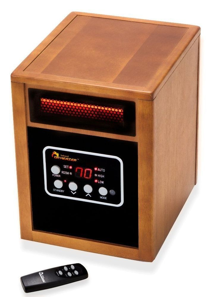 Fan Infrared Heater Portable Space Room Electric Thermostat Ir