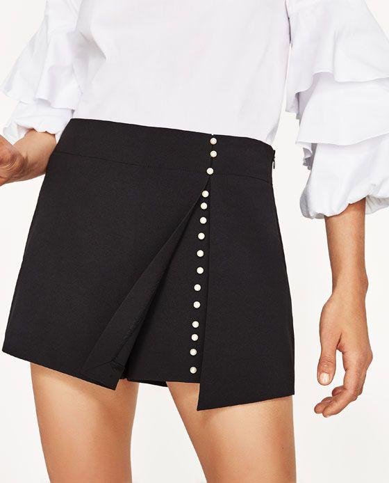 39aaf8c2f24ca8 Image 5 de JUPE-SHORT À DÉTAILS PERLES de Zara | Vêtements et ...