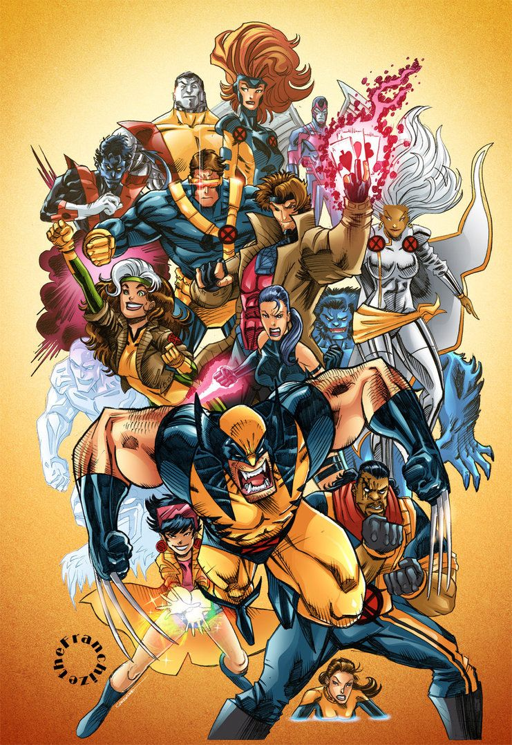 90 S X Men By The Franchize Marvel Superheroes X Men Comic Book Heroes