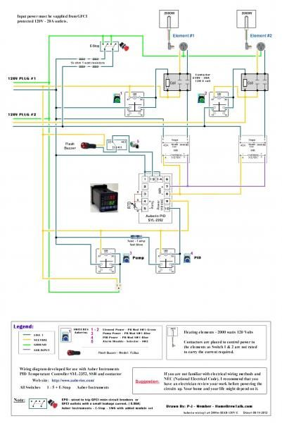 120v Dual Element Wiring Diagram Home Brew Forums Home Brewing Brewing Brewery