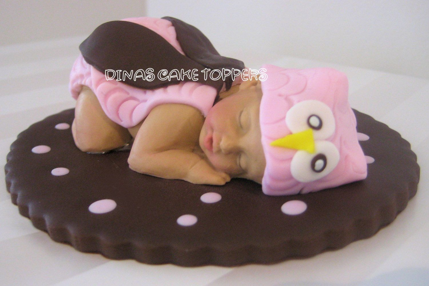 Delightful Cake · Pin Pink Owl Baby Diaper Cake Shower ...