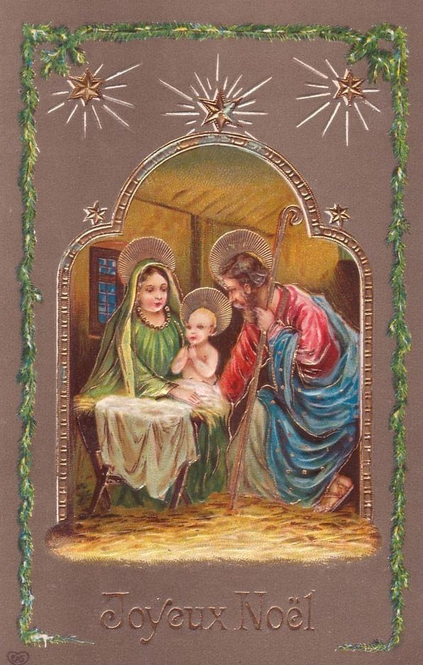 Nativity   Christmas pictures vintage, Antique christmas ...