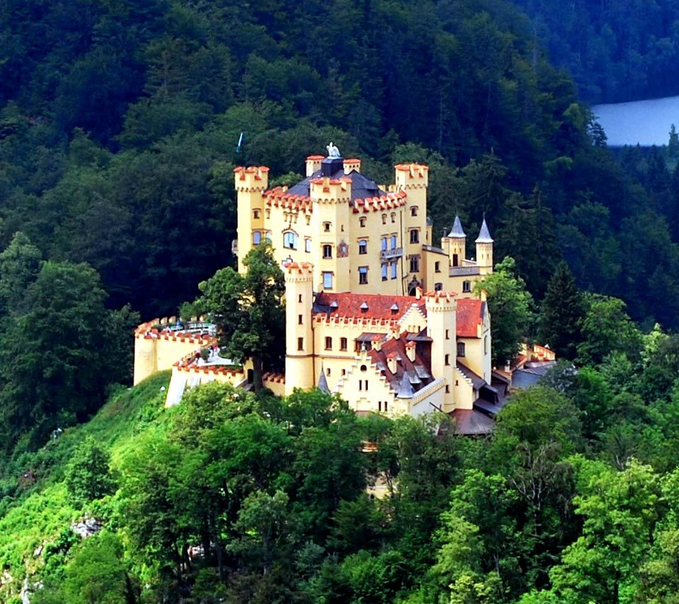 Hohenschwangau Castle is a 19th century palace