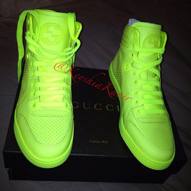 Neon Green KEYSHIA KA'OIR #ShoeGame