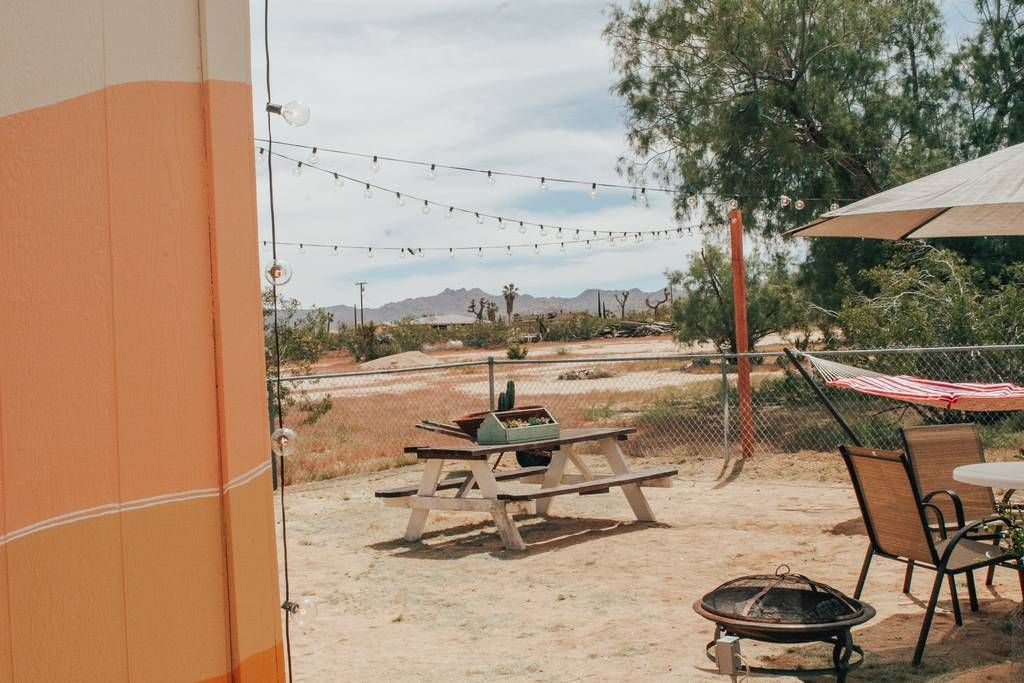 Joshua tree desert cabin with backyard retreat cabins
