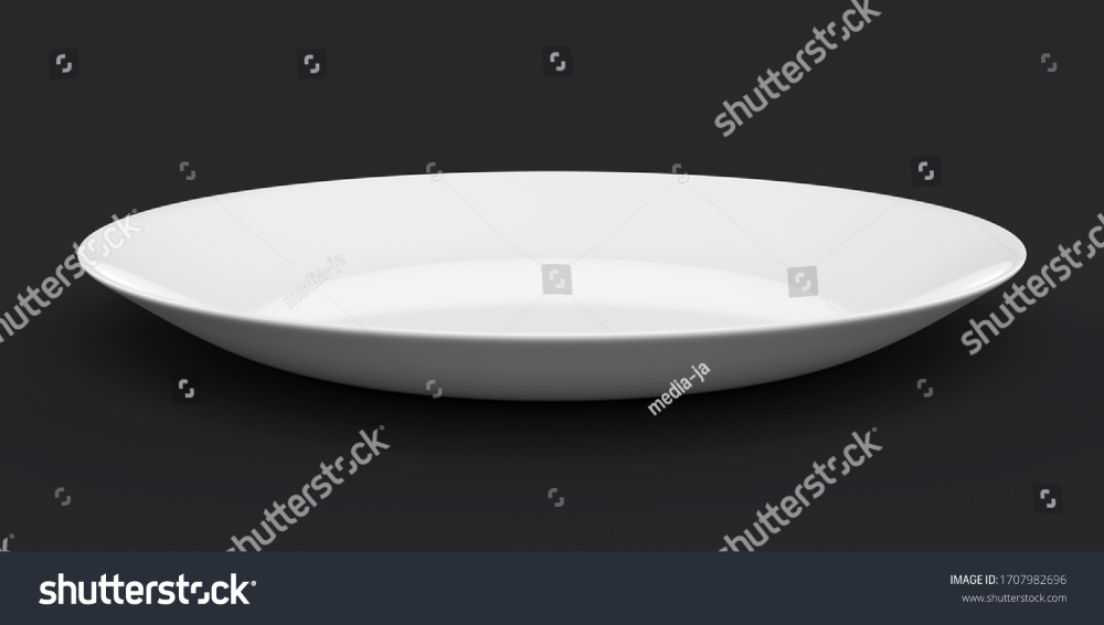 Empty White Plate Ceramic Dish On Stock Illustration 1707982696 Ceramic Dishes Ceramics Plates