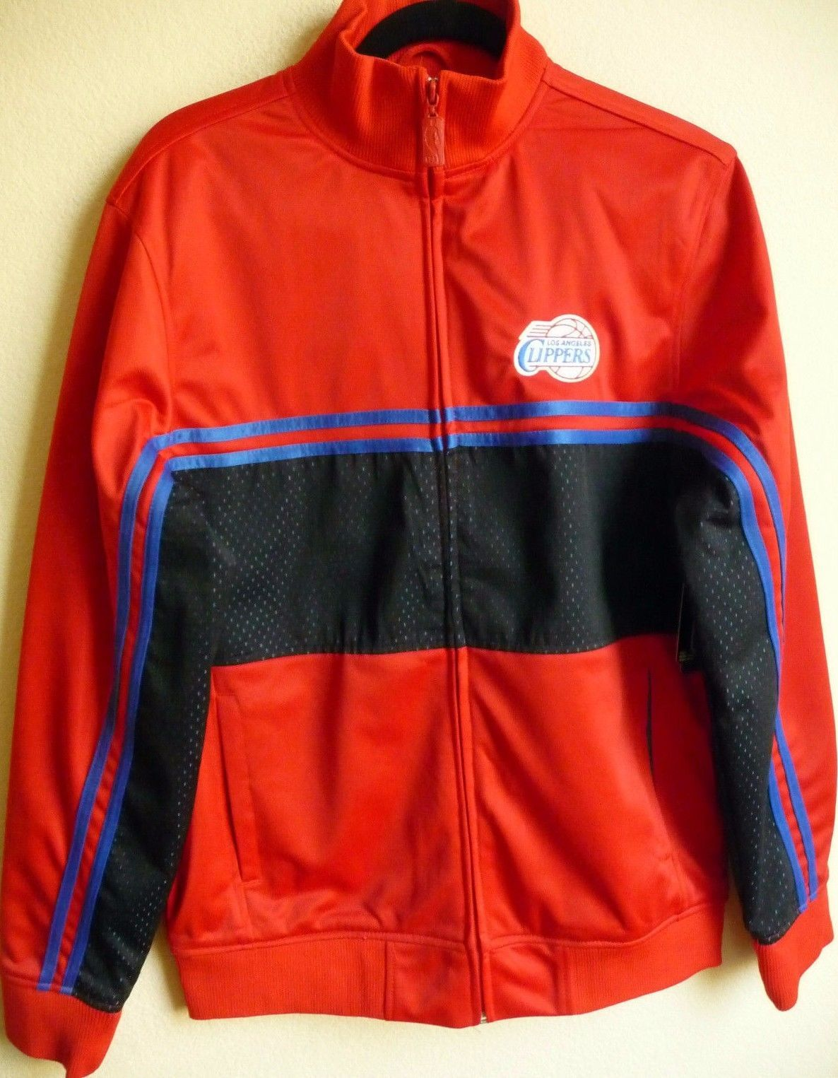 NBA Los Angeles Clippers Basketball Full-Zip Jacket Medium NEW